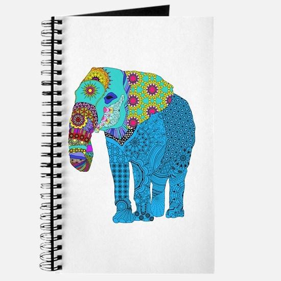 Tangled Elephant Blue Journal