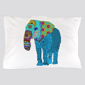 Tangled Elephant Blue Pillow Case