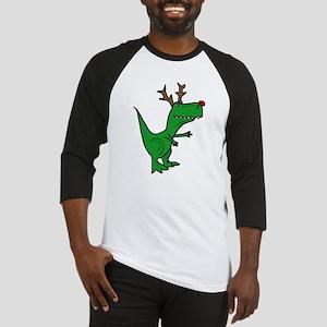 Funny Christmas Dinosaur Reindeer Baseball Jersey