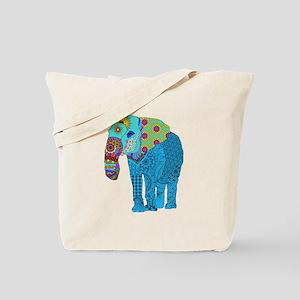 Tangled Elephant Blue Tote Bag
