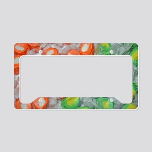 Green and orange taffy candy License Plate Holder