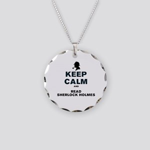 KEEP CALM AND READ SHERLOCK  Necklace Circle Charm