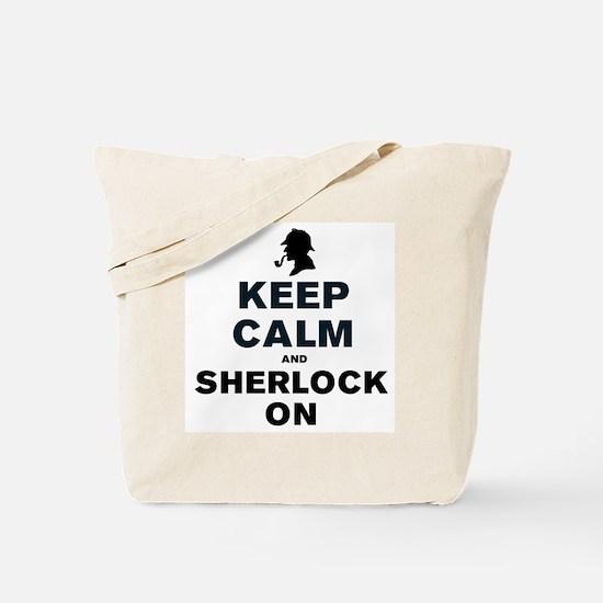 KEEP CALM AND SHERLOCK ON Tote Bag