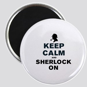 KEEP CALM AND SHERLOCK ON Magnet