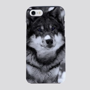 Grey Wolf In Snow iPhone 8/7 Tough Case