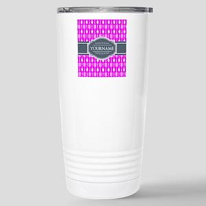 Custom Hot Pink Kitchen Stainless Steel Travel Mug