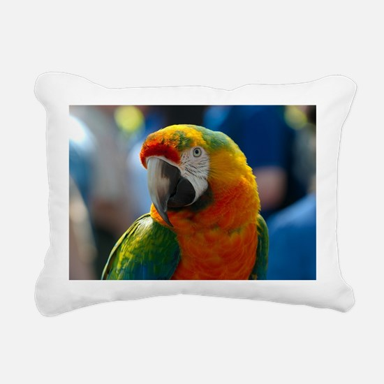 Cute Parrot art Rectangular Canvas Pillow