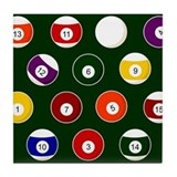 Billiards Tile Coasters