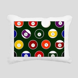 Green Pool Ball Billiards Pattern Rectangular Canv