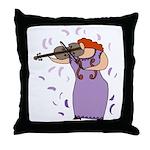Viola Player Throw Pillow