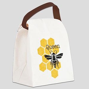 Honeycomb Queen Bee Canvas Lunch Bag
