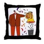 Funny French Horn Player Throw Pillow