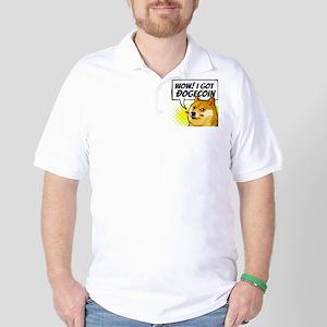 WOW I Got Dogecoin Golf Shirt