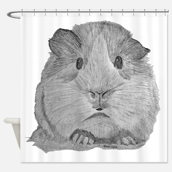 Guinea Pig by Karla Hetzler Shower Curtain