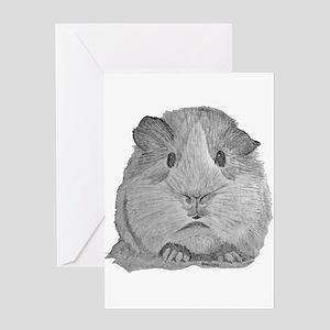 Guinea Pig by Karla Hetzler Greeting Cards