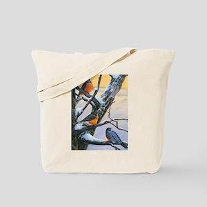 SRose Winter Robins Tote Bag