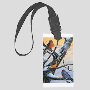 SRose Winter Robins Luggage Tag
