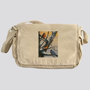 SRose Winter Robins Messenger Bag