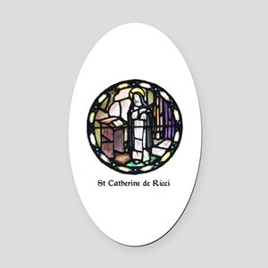 St Catherine de Ricci Oval Car Magnet