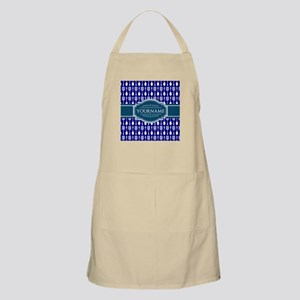 Blue Kitchen Illustration Personalized Apron