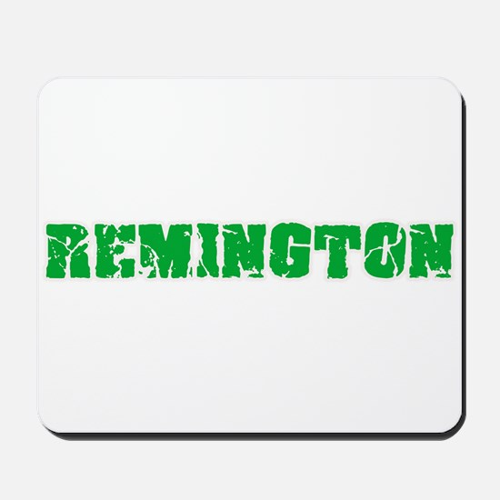 Remington Name Weathered Green Design Mousepad