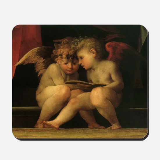 Cherubs Reading by Fiorentino Mousepad