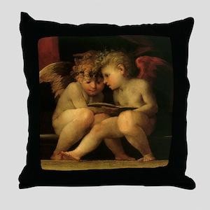 Cherubs Reading by Fiorentino Throw Pillow