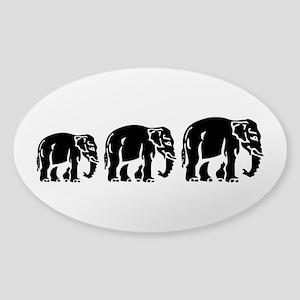 Chang Chang Chang ~ Asian Elephants Crossing Stick