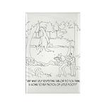 Bigfoot Cartoon 9298 Rectangle Magnet (10 pack)
