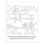 Bigfoot Cartoon 9298 Small Poster
