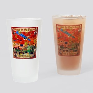 Ticket to the Future Drinking Glass