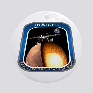 InSight Mission Logo Round Ornament