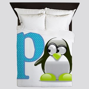 P is for Penguin Queen Duvet