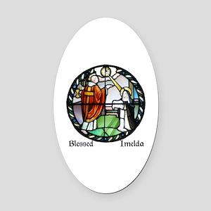 Blessed Imelda Oval Car Magnet
