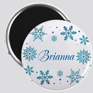 Custom name Snowflakes Magnets