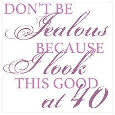 Look Good 40th Birthday  Canvas Art