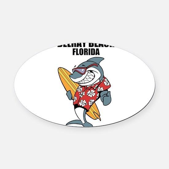 Delray Beach, Florida Oval Car Magnet