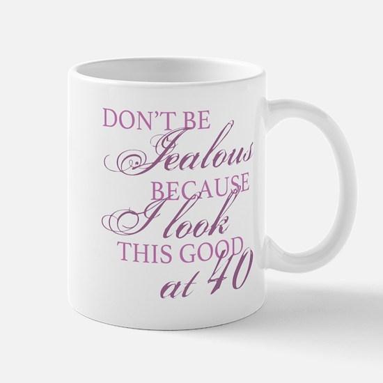 Look Good 40th Birthday Mugs