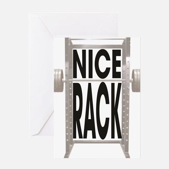 Squat Rack Greeting Card