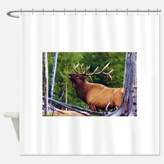 The Bugler Shower Curtain