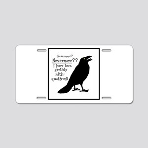 Quoth the Raven Aluminum License Plate