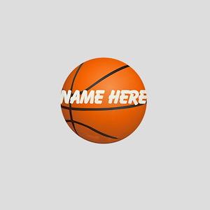 Personalized Basketball Ball Mini Button