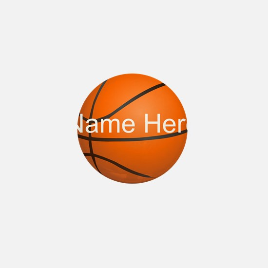 Personalized Basketball Ball Mini Button