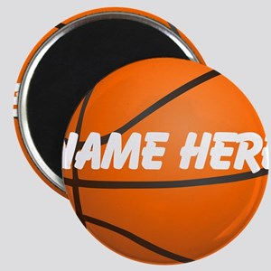 Personalized Basketball Ball Magnets