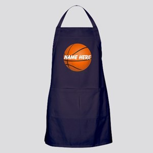Personalized Basketball Ball Apron (dark)
