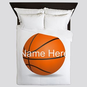 Personalized Basketball Ball Queen Duvet