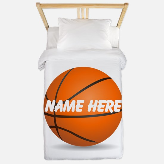 Personalized Basketball Ball Twin Duvet