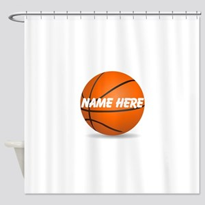 Personalized Basketball Ball Shower Curtain