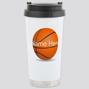 Personalized Basketball Ball Travel Mug