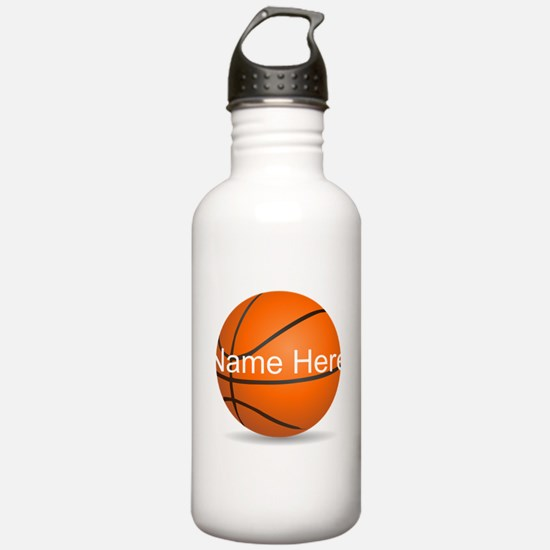 Personalized Basketball Ball Water Bottle